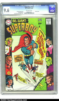 Superboy #147 (DC, 1968) CGC NM+ 9.6 Off-white pages. This issue is an 80-Page Giant, G-47, that sports a cover by Curt...