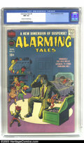 Silver Age (1956-1969):Horror, Alarming Tales #4 (Harvey, 1958) CGC NM 9.4 Cream to off-whitepages. In a story that could have inspired the cult-favorite ...