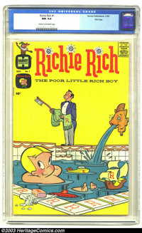 Richie Rich #1 File Copy (Harvey, 1960) CGC NM 9.4 Cream to off-white pages. Richie Rich, the Poor Little Rich Boy, is a...