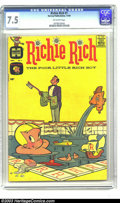"""Silver Age (1956-1969):Humor, Richie Rich #1 (Harvey, 1960) CGC VF- 7.5 Off-white pages. Before """"The Poor Little Rich Boy"""" minted a cottage industry of s..."""