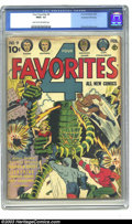 Golden Age (1938-1955):Science Fiction, Four Favorites #9 Kurtzman File Copy (Ace, 1943) CGC FR/GD 1.5Light tan to off-white pages. This issue of Four Favorites...