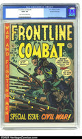 Golden Age (1938-1955):War, Frontline Combat #9 Kurtzman File Copy (EC, 1952) CGC GD/VG 3.0Light tan to off-white pages. Among fans of EC's war books, ...
