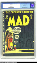 Golden Age (1938-1955):Humor, Mad #1 Kurtzman File Copy (EC, 1952) CGC VG 4.0 Off-white pages. Boy, oh boy, this one comic book sure sent shock waves arou...
