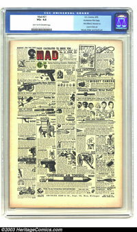 Mad #21 Kurtzman File Copy (EC, 1955) CGC VG+ 4.5 Light tan to off-white pages. The cover of this issue of Mad is a take...
