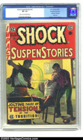 "Golden Age (1938-1955):Horror, Shock SuspenStories #16 Kurtzman File Copy (EC, 1954) CGC VG- 3.5Light tan to off-white pages. The famous ""Red Dupe"" one-pa..."
