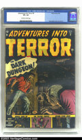 Golden Age (1938-1955):Horror, Adventures Into Terror #9 (Atlas, 1952) CGC VF+ 8.5 Off-white towhite pages. Russ Heath mastered the art of drawing faces f...