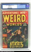 Golden Age (1938-1955):Horror, Adventures Into Weird Worlds #12 (Atlas, 1952) CGC VF/NM 9.0Off-white to white pages. A couple of lonely undead souls reach...