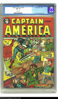 Golden Age (1938-1955):Superhero, Captain America Comics #9 (Timely, 1941) CGC NM- 9.2 Off-white pages. The Black Talon couldn't get a real model for his twis...