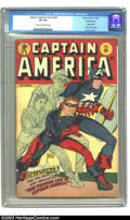 Golden Age (1938-1955):Superhero, Captain America Comics #59 Crowley pedigree (Timely, 1946) CGC VF 8.0 Cream to off-white pages. Every issue of Captain...