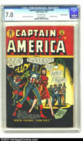 Golden Age (1938-1955):Superhero, Captain America Comics #65 Cosmic Aeroplane pedigree (Timely, 1948) FN/VF 7.0 Off-white pages. Syd Shores' cover to Captai...