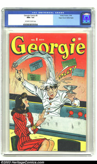 Georgie Comics #8 Mile High pedigree (Timely, 1946) CGC NM+ 9.6 Off-white to white pages. You definitely do not see too...
