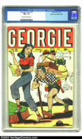 Golden Age (1938-1955):Humor, Georgie Comics #12 Mile High pedigree (Timely, 1947) CGC NM+ 9.6 Off-white to white pages. Classic Timely teenage fun with p...