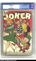Golden Age (1938-1955):Humor, Joker Comics #26 Mile High pedigree (Timely, 1947) CGC NM- 9.2 Off-white pages. A character-filled cover lies atop this grea...
