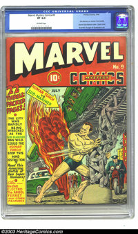 Marvel Mystery Comics #9 (Timely, 1940) CGC VF 8.0 Off-white pages. Undeniably a holy grail issue for many Timely collec...
