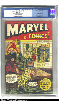 Marvel Mystery Comics #85 (Timely, 1948) CGC VF+ 8.5 Cream to off-white pages. Torch is in a sticky situation here, thro...