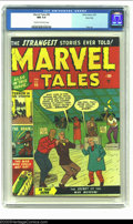 Golden Age (1938-1955):Horror, Marvel Tales #99 River City pedigree (Marvel, 1951) CGC NM 9.4Cream to off-white pages. By 1949, Timely's first comic book ...