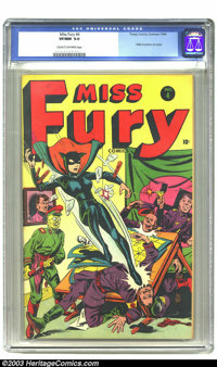Miss Fury #4 (Timely, 1944) CGC VF/NM 9.0 Cream to off-white pages. Hitler in picture on cover. Overstreet 2003 VF/NM 9...