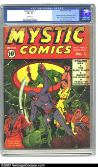 Mystic Comics #1 (Timely, 1940) CGC FN+ 6.5 Off-white pages. Timely/Marvel liked this title so much, they just wouldn't...