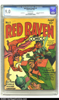 Golden Age (1938-1955):Superhero, Red Raven Comics #1 (Timely, 1940) CGC VF/NM 9.0 Off-white pages. Chronologically this title was preceded only by Marvel C...