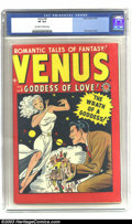 Golden Age (1938-1955):Romance, Venus #6 (Atlas, 1949) CGC VF 8.0 Off-white to white pages. Here'san early issue of this hard-to-find title, from its early...