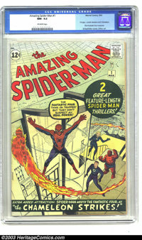 Amazing Spider-Man #1 (Marvel, 1963) CGC NM- 9.2 Off-white pages. For those readers who had caught Spidey's first appear...