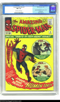 Silver Age (1956-1969):Superhero, The Amazing Spider-Man #8 (Marvel, 1964) CGC NM+ 9.6 Off-white towhite pages. In addition to the usual superior work from S...