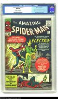Silver Age (1956-1969):Superhero, Amazing Spider-Man #9 (Marvel, 1964) CGC NM 9.4 Off-white to whitepages. Electro is one of many great villains to aggravate...