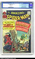 Silver Age (1956-1969):Superhero, Amazing Spider-Man #18 (Marvel, 1964) CGC NM+ 9.6 Off-white pages.The Sandman's back, the future Hobgoblin, Ned Leeds, make...