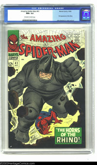 Amazing Spider-Man #41 (Marvel, 1966) CGC NM+ 9.6 Off-white to white pages. John Romita Sr. is arguably the finest artis...