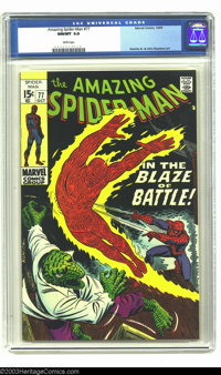 Amazing Spider-Man #77 (Marvel, 1969) CGC NM/MT 9.8 White pages. This copy has been given the highest CGC-grade for this...