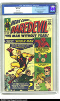 Silver Age (1956-1969):Superhero, Daredevil #1 (Marvel, 1964) CGC VF+ 8.5 Off-white pages. Stan Leeand Bill Everett produced an origin story for this first a...