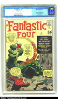 Silver Age (1956-1969):Superhero, Fantastic Four #1 (Marvel, 1961) CGC VF 8.0 Cream to off-whitepages. Collectors may argue about whether or not this comic m...
