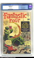 Silver Age (1956-1969):Superhero, Fantastic Four #1 (Marvel, 1961) CGC VG/FN 5.0 Off-white pages.Tied with The Amazing Spider-Man #1 for third place among th...