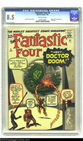 Silver Age (1956-1969):Superhero, Fantastic Four #5 (Marvel, 1962) CGC VF+ 8.5 Off-white pages. Withthe exception of their first appearance and origin, the i...