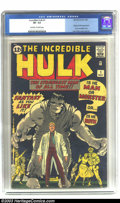 Silver Age (1956-1969):Superhero, The Incredible Hulk #1 (Marvel, 1962) CGC VF- 7.5 Off-white towhite pages. Ol' Greyskin (soon to be Ol' Greenskin, starting...