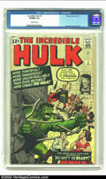 Silver Age (1956-1969):Superhero, The Incredible Hulk #5 (Marvel, 1963) CGC VF/NM 9.0 Off-white pages. This cool Jack Kirby cover warns readers that the Hulk ...