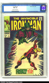 Iron Man #5 (Marvel, 1968) CGC NM+ 9.6 Cream to off-white pages. With cover art by George Tuska and interior art by Tusk...
