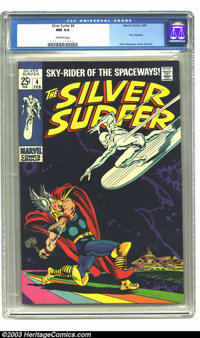 The Silver Surfer #4 (Marvel, 1969) CGC NM 9.4 Off-white pages. A beautiful example of an important late Silver Age issu...