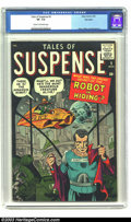 Silver Age (1956-1969):Science Fiction, Tales of Suspense #2 Big Apple pedigree (Marvel, 1959) CGC VF- 7.5Cream to off-white pages. This classic post-Code science-...
