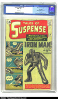 Silver Age (1956-1969):Superhero, Tales of Suspense #39 Winnipeg pedigree (Marvel, 1963) CGC VF+ 8.5Off-white pages. Iron Man's first appearance earmarks thi...