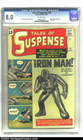 Silver Age (1956-1969):Superhero, Tales of Suspense #39 (Marvel, 1963) CGC VF 8.0 Off-white pages.After the introduction, over the previous 16 months, of suc...
