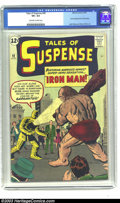 Silver Age (1956-1969):Superhero, Tales of Suspense #40 (Marvel, 1963) CGC VF+ 8.5 Off-white to white pages. Featuring the second appearance of the invincible...