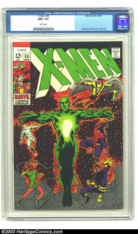 X-Men #55 (Marvel, 1969) CGC NM+ 9.6 White pages. Alex Summers discovers he has mutant powers that will ultimately lead...