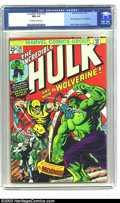 Bronze Age (1970-1979):Superhero, The Incredible Hulk #181 (Marvel, 1974) CGC NM 9.4 Off-white towhite pages. Few characters from the Bronze Age have had as ...