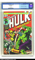 Bronze Age (1970-1979):Superhero, The Incredible Hulk #181 (Marvel, 1974) CGC VF+ 8.5 Off-whitepages. The first full appearance of Wolverine has made this is...