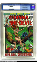 Bronze Age (1970-1979):Miscellaneous, Shanna the She-Devil #1 (Marvel, 1973) NM/MT 9.8 White pages. Thiswas Marvel's entry into the jungle woman theme. Shanna ma...