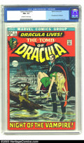 Bronze Age (1970-1979):Horror, Tomb of Dracula #1 (Marvel, 1972) CGC NM+ 9.6 Off-white to whitepages. Dracula lives! At least, that's what the cover of th...