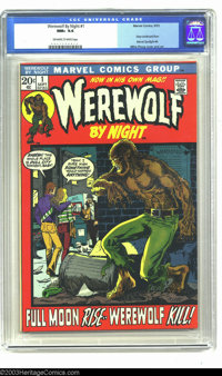 Werewolf by Night #1 (Marvel, 1972) CGC NM+ 9.6 Off-white to white pages. It's one of the more popular books of the Bron...
