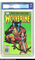 Modern Age (1980-Present):Superhero, Wolverine (limited series) #4 (Marvel, 1982) CGC NM/MT 9.8Off-white to white pages. Frank Miller has created some of thebe...