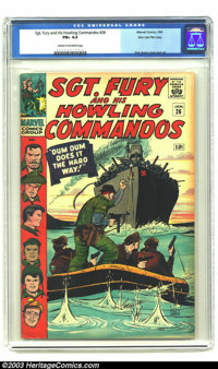 Sgt. Fury and His Howling Commandos #26 Stan Lee File Copy (Marvel, 1966) CGC FN+ 6.5 Cream to off-white pages. Dum Dum...